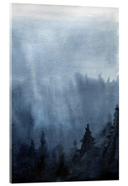 Acrylic print  Mist over the forest