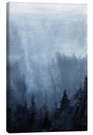 Canvas print  Mist over the forest