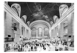 Acrylic print  Grand Central Terminal, New York (monochrome) - Sascha Kilmer