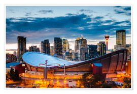 Premium poster Stadium and Skyline of Calgary, Canada