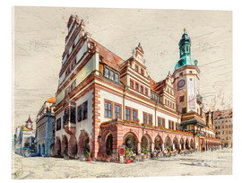 Acrylic print  Leipzig Old Town Hall - Peter Roder