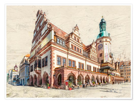 Premium poster  Leipzig Old Town Hall - Peter Roder