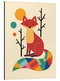 Aluminium print  Rainbow Fox - Andy Westface