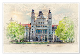 Premium poster Leipzig New Town Hall