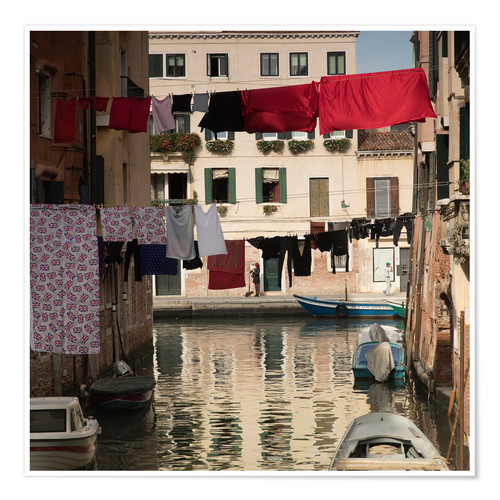 Premium poster Washing lines in Venice, Italy