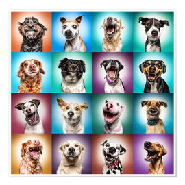 Premium poster  More funny dog faces - Manuela Kulpa
