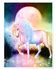 Premium poster  Unicorn, love yourself - Dolphins DreamDesign