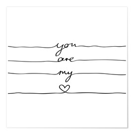 Premium poster  You are my heart - Mareike Böhmer