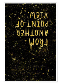 Premium poster TEXT ART GOLD From another point of view