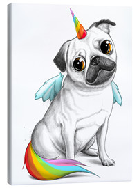 Canvas print  Pug unicorn - Nikita Korenkov