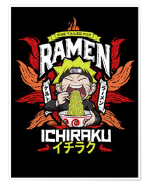 Premium poster  Naruto eating a bowl of ramen - Barrett Biggers