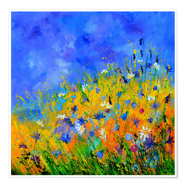 Premium poster  Wildflowers in the cornfield - Pol Ledent