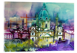 Acrylic print  Vienna, Karls Church - Johann Pickl
