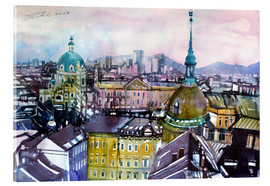 Acrylic print  Vienna, view to the Karls church - Johann Pickl
