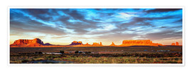 Premium poster Monument Valley panorama