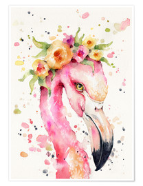 Premium poster  Little flamingo - Sillier Than Sally