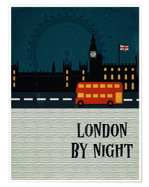 Premium poster London by Night
