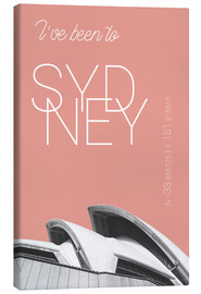 Canvas print  Popart Sydney Opera I have been to color: blooming dahlia - campus graphics
