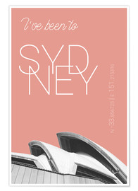 Premium poster  Popart Sydney Opera I have been to color: blooming dahlia - campus graphics