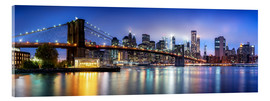 Acrylic print  Brooklyn Bridge panorama in New York City, USA - Jan Christopher Becke