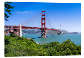 Acrylic print  Golden Gate Bridge in San Francisco, California, USA - Jan Christopher Becke