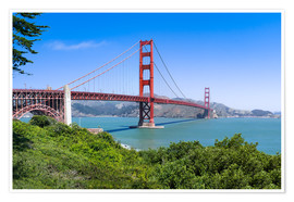 Premium poster  Golden Gate Bridge in San Francisco, California, USA - Jan Christopher Becke