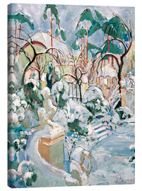 Canvas print  Garden in the snow - Oskar Moll
