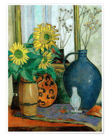 Premium poster  Sunflowers with Matisse shell - Oskar Moll