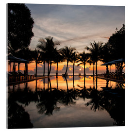 Acrylic print  Luxury infinity pool on the Gulf of Thailand