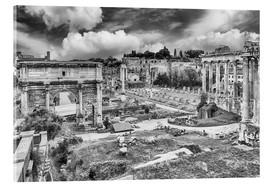 Acrylic print  ruins of the Roman Forum in Rome
