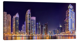 Canvas print  Dubai marina bay