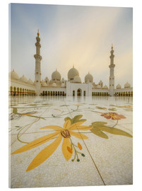 Acrylic print  Courtyard of Sheikh Zayed Grand Mosque