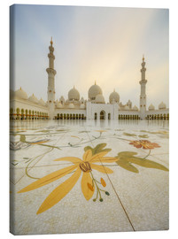Canvas print  Courtyard of Sheikh Zayed Grand Mosque