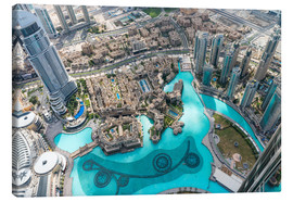 Canvas print  Aerial view of Dubai