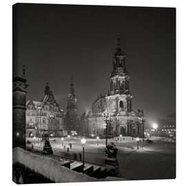 Canvas print  Dresden Hofkirche in winter