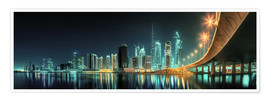 Premium poster Panoramic view - Dubai Business Bay
