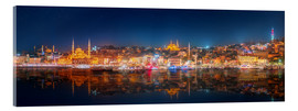 Acrylic print  Istanbul and Bosporus at night