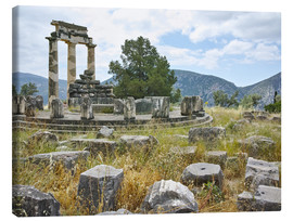 Canvas print  Athena Pronaia Sanctuary - site of Delphi