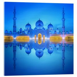 Acrylic print  Sheikh Zayed Grand Mosque in blue