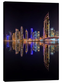 Canvas print  Dubai marina at night