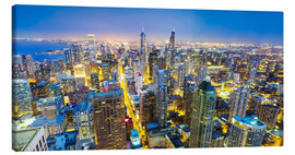 Canvas print  Night view of Chicago