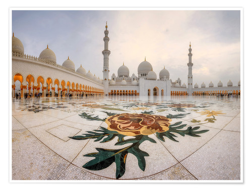 Premium poster Sheikh Zayed Grand Mosque