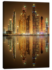 Canvas print  Lighting the Dubai Marina Bay