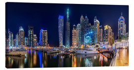 Canvas print  The fascination of Dubai Marina Bay