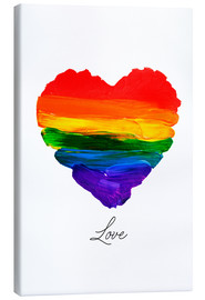 Canvas print  rainbow heart