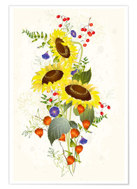 Premium poster  Sunflower bouquet