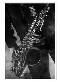 Premium poster  Close up of a Saxophonist