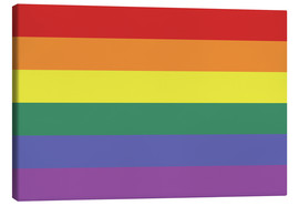 Canvas print  Gay pride flag