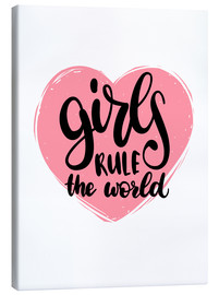 Canvas print  Girls rule the world - Typobox