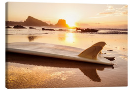 Canvas print  Surfboards at the beach